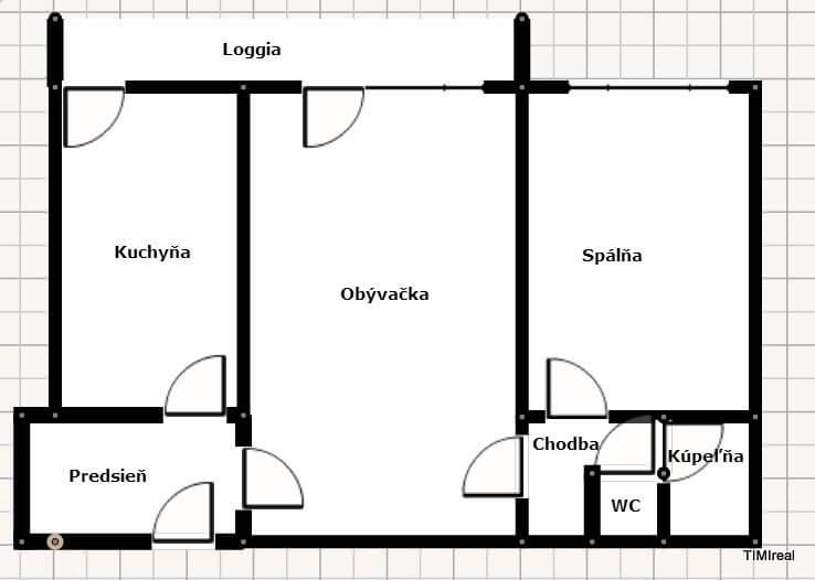 Prenájom 2-izb. bytu s 2 zasklenými loggiami pri veľkom parku